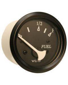 VDO Allentare Black Fuel Level Gauge - Use w/Marine 240-33 Ohm Fuel Senders - 12V - Black Bezel