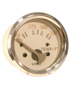 VDO Allentare White/Grey 250 F Water Temperature Gauge - Use w/Marine 450-29 Ohm Sender - 12V