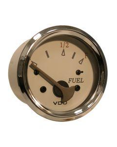VDO Allentare White/Grey Fuel Level Gauge - Use w/Marine 240-33 Ohm Fuel Senders - 12V