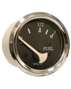 VDO Allentare Black Fuel Level Gauge - Use w/Marine 240-33 Ohm Fuel Senders - 12V - Chrome Bezel