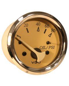 VDO Allentare Teak 80PSI Oil Pressure Gauge - Use w/Marine 240-33 Ohm Sender - 12V
