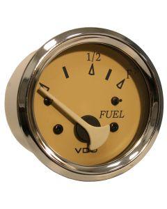VDO Allentare Teak Fuel Level Gauge - Use w/Marine 240-33 Ohm Fuel Senders - 12V