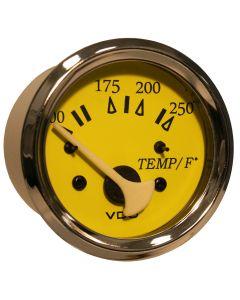 VDO Allentare Yellow/Blue 250 F Water Temperature Gauge - Use w/Marine 450-29 Ohm Sender - 12V