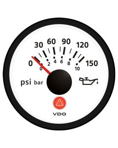 VDO Viewline Ivory 150 PSI/10 Bar Oil Pressure Gauge 12/24V - Use with VDO Sender