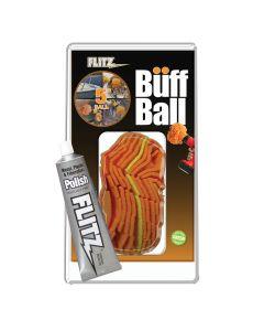 Flitz Buff Ball - Large 5 - Orange w/1.76oz Tube Polish