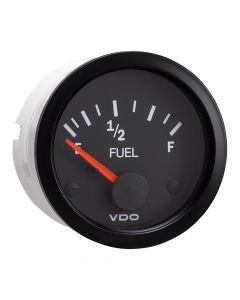 VDO Vision Black Fuel Gauge - Use with 240-33 Ohm Sender - 12V