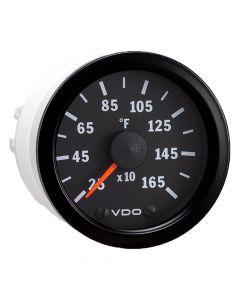 VDO Vision Black 1600 F Pyrometer with Sender & Harness - 12V