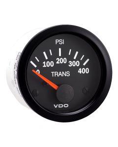 VDO Vision Black 400 PSI Oil Pressure Gauge - Use with VDO Sender - 12V