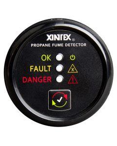 Fireboy Xintex Propane Fume Detector w/Plastic Sensor - No Solenoid Valve - Black Bezel Display