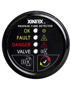 Fireboy Xintex Propane Fume Detector w/Plastic Sensor & Solenoid Valve - Black Bezel Display
