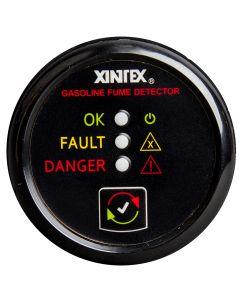 Fireboy Xintex Gasoline Fume Detector & Alarm w/Plastic Sensor - Black Bezel Display