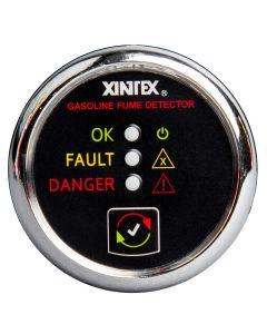 Fireboy Xintex Gasoline Fume Detector & Alarm w/Plastic Sensor - Chrome Bezel Display