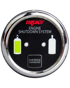 Fireboy Xintex Deluxe Helm Display w/Gauge Body, LED & Color Graphics f/Engine Shutdown System - Chrome Bezel Display