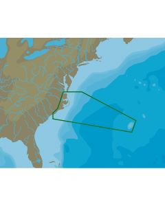 C-Map NT+ NA-C336 Norfolk to Bermuda to Wilmington - C-Card Format