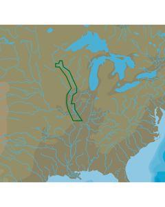 C-Map NT+ NA-C052 Upper Mississippi River - C-Card Format