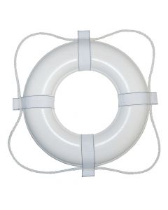 Taylor Made Foam Ring Buoy - 24 - White w/White Rope