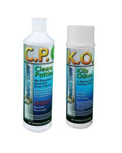 Raritan Potty Pack w/K.O. Kills Odors & C.P. Cleans Potties - 1 of Each - 22oz Bottles