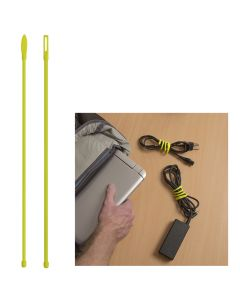 "Nite Ize Gear Tie® Cordable™ Twist Tie - 12"" - Neon Yellow - 2-Pack"