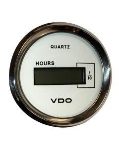 VDO Allentare White DC Hourmeter LCD Gauge - 52mm - 10-32V