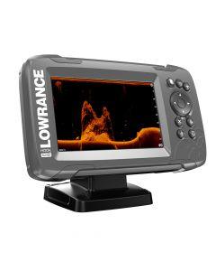 """Lowrance HOOK²-5x 5"""" GPS SplitShot Fishfinder w/Track Plotter Transom Mount SplitShot Transducer"""