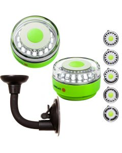 Portable Battery Operated Suction Cup Mount Red and Green Bow Light for Boats