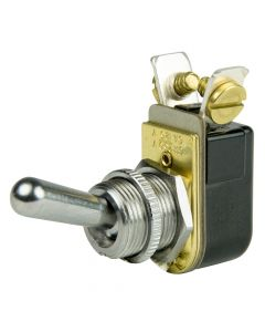 """BEP SPST Chrome Plated Toggle Switch - 11/16"""" Handle - OFF/ON"""