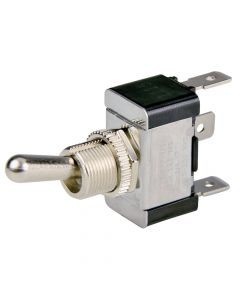 BEP SPDT Chrome Plated Toggle Switch - ON/OFF/ON