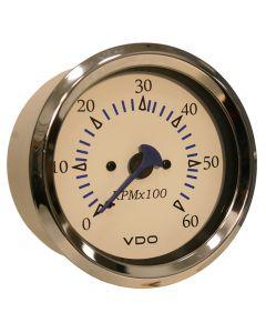 VDO Allentare 4,000 RPM Tachometer Gauge - 85mm - White