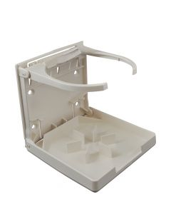 Attwood Fold-Up Drink Holder - Single Ring - White