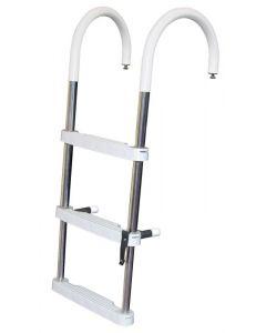 DUF 3 or 4 Step Pontoon Telescoping Ladder - JIF Marine Pontoon & House Boat Ladders