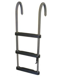 EJZ 3 or 4 Step Removable Telescoping Pontoon Ladder - JIF Marine Pontoon & House Boat Ladders