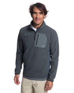 Quiksilver Waterman Bigger Boat Half Zip Bonded Sweatshirt