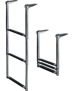 JIF Marine Products DMW, DMX, & DMX-S Transom Drop Ladders Telescoping Boat Ladders