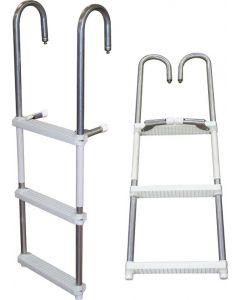 EPZ 3 or 4 Step Pontoon Transom Boarding Ladder - JIF Marine Pontoon & House Boat Ladders