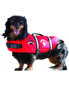 Paws Aboard Red Lifeguard Neoprene Doggy Life Jackets