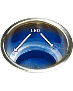 Stainless Steel Recessed Drink Holder w/ LED Light - Seachoice