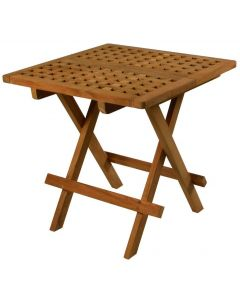 Teak Folding Deck Table, Oiled Finish - SeaTeak