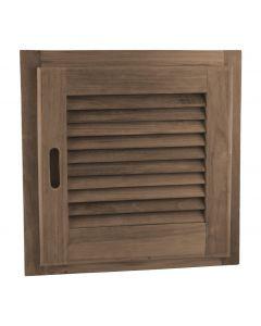 Teak Louvered Door & Frame - SeaTeak