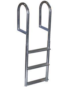 Dock Edge Wide-Step Welded Aluminum Fixed Dock Ladders
