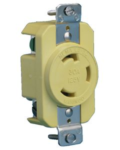Boat End 30a Locking Receptacle (Marinco/Guest/Afi/Nicro/Bep)