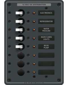 Blue Sea A-Series DC Toggle Branch Circuit Breaker Panels