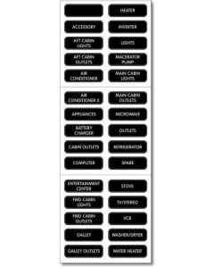 AC Panel Basic 30 Label Set