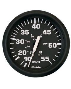 Faria Euro Black Series - Speedometer