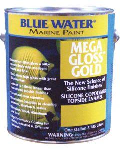 Blue Water Marine Paint Mega Gloss Gold Premium Topside Silicone Enamel