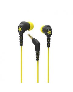 Rockstar Edition - Noise Isolated Earbuds - Black & Yellow - Scosche