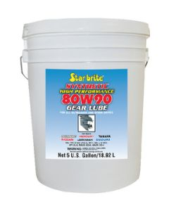 Starbrite Synthetic 80w 90 Lower Unit Gear Lube 5 Gal. - Star Brite