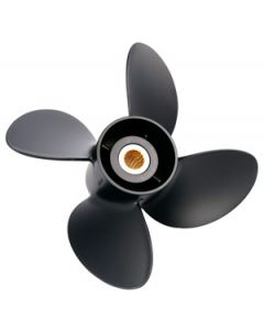 "Solas RUBEX 4  13.25"" x 13"" pitch Standard Rotation 4 Blade Aluminum Boat Propeller"