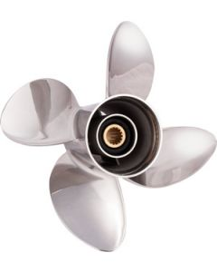 """Solas RUBEX HR4  13.25"""" x 15"""" pitch Standard Rotation 4 Blade Stainless Steel Boat Propeller"""