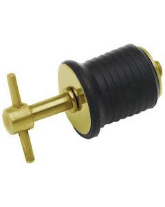 "Seasense Brass Twist Boat Drain Plug, 1"""