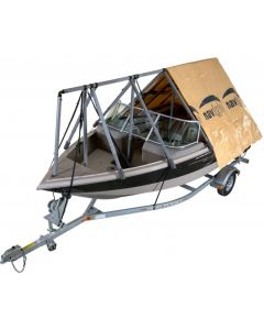 Navigloo Boat Shelter With Tarp for 14 ft. - 18 ft 6 in. Fishing and Pontoon Boats